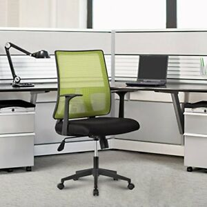 Langria Ergonomic Mid back Mesh Home Office Task Chair Knee Tilt Mechanis