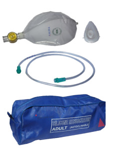Ambu Resuscitator Bag Adult Silicon Manual Oxygen Tube Mask cpr First Aid Kit