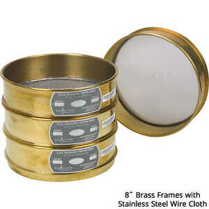 Advantech Manufacturing 8 dia Brass Frame Testing Sieve With Stainless Stee