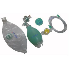 Ambu Resuscitator Bag Child Silicon Manual Oxygen Tube Mask cpr First Aid Kit