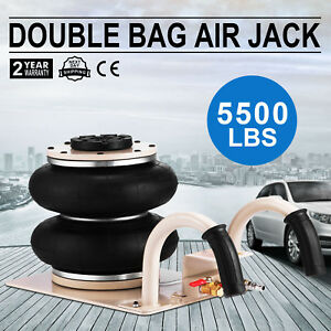 5500lbs Double Bag Air Jack Pneumatic Jack Jack Stands Fast Lift Heavy Duty