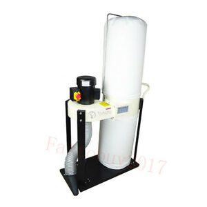 1hp 750w Dust Collector 500cfm Hand Push Dust Absorbing Vortex Bag For Woodwoood