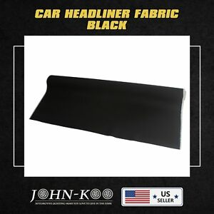 Two Yards Black Upholstery Auto Headliner Fabric With A Foam Backing Decorate