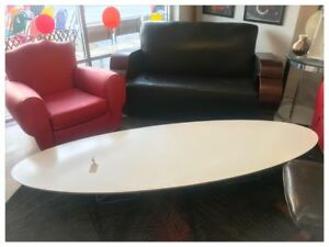 Mid Century Modern Charles Ray Eames For Herman Miller Elliptical Coffee Table