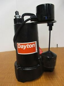 3 4 Hp Submersible Sump Pump Cast Iron Base Vertical Switch Oil Cooled New