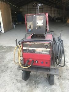 Lincoln Idealarc Cv 300 Mig Welder W Ln 7 Wire Feeder On Cart