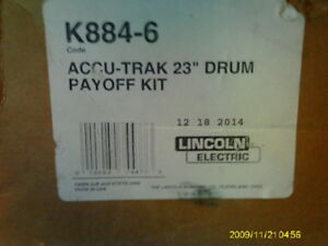 Lincoln Electric K884 6 23 Accu trak Drum Payoff Kit Mig Wire Dispenser Top New