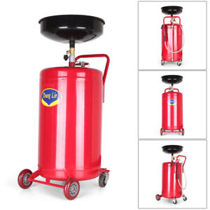 20 Gallon Waste Oil Drain Tank Air Operated Drainer Portable Oil Change Transfer