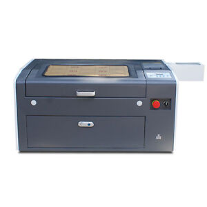 50w 500 300mm Co2 Laser Engraving Cutting Engraver Cutter Machine With Rotary