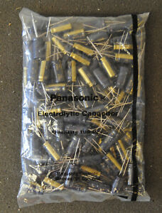 Panasonic lot Of 100 Electrolytic Radial Capacitors 35v 1000uf 105c Ce Fc