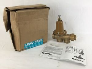 Watts 3 4 Pressure Reducing Valve 0009257 Lead Free Lf25aub z3 25 75 Psi New
