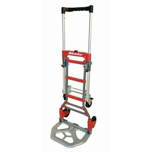 Milwaukee Folding Hand Truck Dolly Cart 300 Lb Capacity