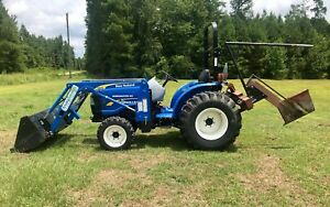 2015 New Holland 110tl Workmaster 40 4x4 Hydrostatic Front End Loader Low Hours