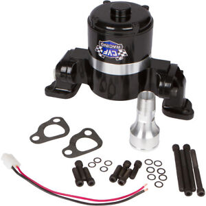 Black Small Block Chevy Electric Water Pump 350 Ewp Sbc High Volume Flow