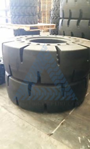 2 20 5x25 Tires Wheel Loader Tires 20 5 25 Tire New Solid Tires set Of 2