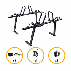 Aluminum Truck Ladder Rack Utility W 2 Pair Folding Kayak Roof Rack Lumber Canoe
