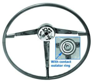 1965 1966 Ford Mustang Standard Steering Wheel Black Paint To Match sw02 New