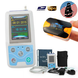 Portable Ambulatory Abmp Holter Monitor Ecg ekg 24hour Bp Monitor Machine Gift