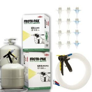 Dow Froth Pak 620 Sealant Spray Foam Kits Bundle 4 Sets 4 Hoses