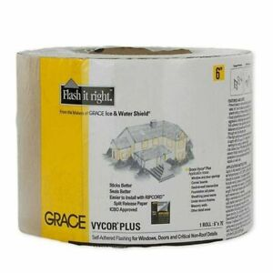 Grace Vycor Plus 6 X 75 Self adhered Flashing Tape Pallet Of 360 Rolls