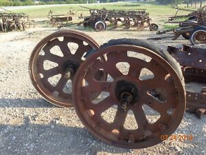 Farmall F20 Rear 36 8 00 P1237 Steel Rims With Centers Hub And Axles