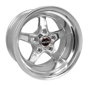 Race Star Wheels 92 Drag Star 15x14 5x4 75 Bc 4 00bs Polished