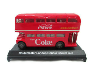 Coca-Cola London Double-Decker Bus Routemaster 1:60 Scale Red MotorCity New