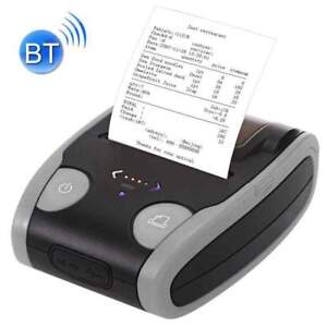 Usb Mini 58mm Bluetooth Wireless Mobile Pos Thermal Receipt Printer Gray