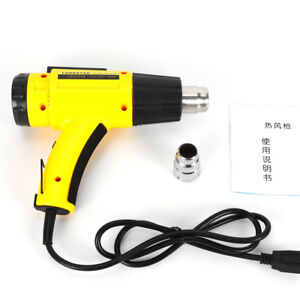 2000w Heavy Duty Heat Gun With Lcd Display For Soldering Welding Pvc Shaping