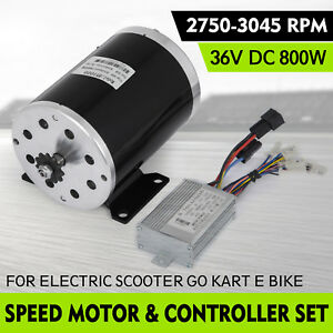 36v Dc Electric Brushed Speed Motor 800w And Controller Bicycle Scooter 25h 11t