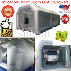Inflatable Giant Car Workstation Spray Paint Booth Tent 6 3 2 5m Grey Rainproof