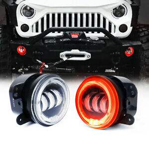 Suparee 4 30w Cree Led Fog Light Red Demon Eyes Ring Drl Halo Jeep Wrangler