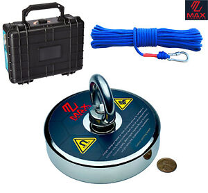 Largest Fishing Magnet Kit 1200 Lbs Pull Force Neodymium Magnet Rope Case