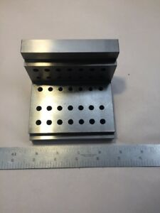 Quality Angle Step Plate Machinist Toolmaker Hardened Ground Fixture 4x4x3 S22