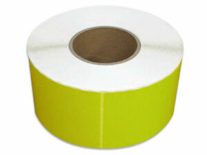 Thermal Transfer Labels Yellow Color 4 X 6 Required Ribbon 1000 rl 12 Rolls