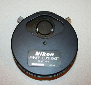Nikon Diaphot Phase Contrast Elwd 0 3 Condenser Turret Ph1 Ph2 Ph3 Phl parts