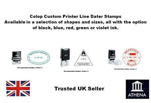 Colop Custom Printer Line Dater Stamp Ideal For Offices Schools Garages Etc