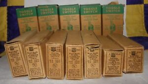 Mixed Lot 12 Vintage Toggle Switches Outlets New In Boxes Nos Bakelite