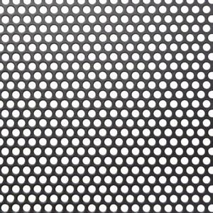 36in X36in Small Hole Perforated Aluminum Metal Sheet Corrosion Resistant Black