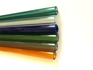 Blue 10 Mm X 1 5 Mm Thickness X 4 Long Pyrex Glass Blowing Tube Medium