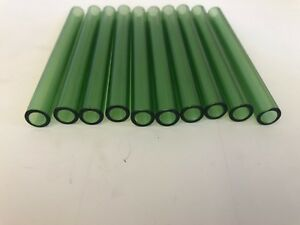 Lake Green 10 Mm X 1 5 Mm Thick X 4 Long 7 Od Pyrex Glass Tube Medium