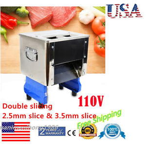 550w Electric Cutting Meat Slicer Slicing Shredding Dicing Machine Commercial