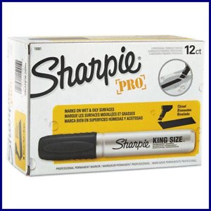 Sharpie Chisel Tip Pro Permanent Markers King Size Black 24 Ct 2 Pack