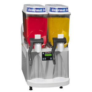 Double Bowl Frozen Drink Machine White stainless Base