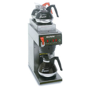 Automatic Commercial Coffee Brewer W hot Water Faucet 3 In line Warmers 120v