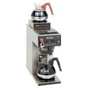 Automatic Commercial Coffee Brewer W hot Water Faucet 2 In line Warmers 120v
