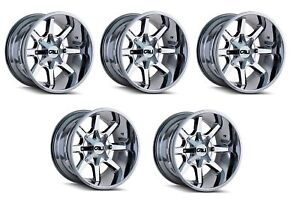 Cali Off road 9100 2952p2d18 Set Of 5 Busted 9100 20x9 5x127 5x139 7 Pvd2 Wheels