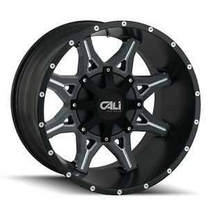 Cali Off road 9107 2952m18 Set 5 Obnoxious 20x9 Satin Black W spokes Wheels