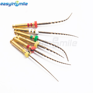 Easyinsmile Endodontic Gold Rotary Endo Root Canal Files X3 pgas Assorted 6files