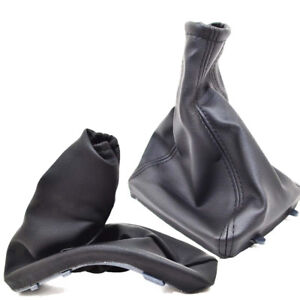 Handbrake Gear Shift Stick Boot Gaiter Black Leather Vauxhall Opel Astra G P58